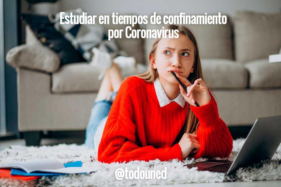 Estudiar tiempos confinamiento coronavirus